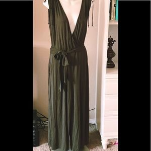 Anthropologie Army Green Jumpsuit